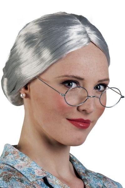 Wig Granny silver