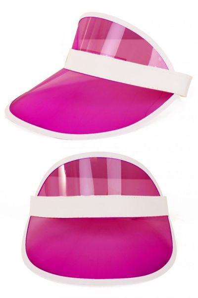 Transparent pink sun visor