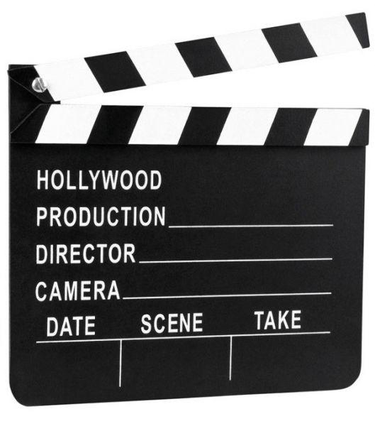 Movie clapper Hollywood