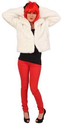 Wrong white ladies fur coat
