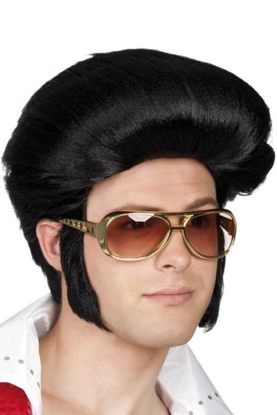 Elvis wig Rocking Billy black