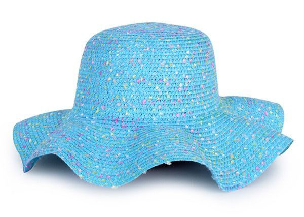 Beach hat blue lady
