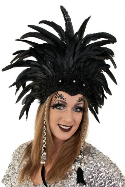 Indians feather headdress black feather