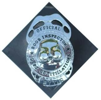 Badge Breasts inspector with pin