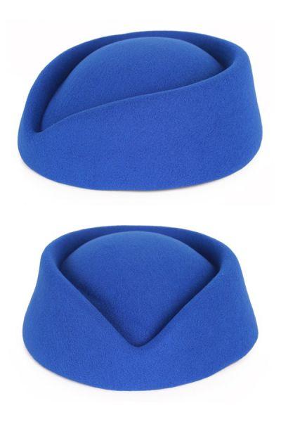 Stewardesses blue wool felt hat