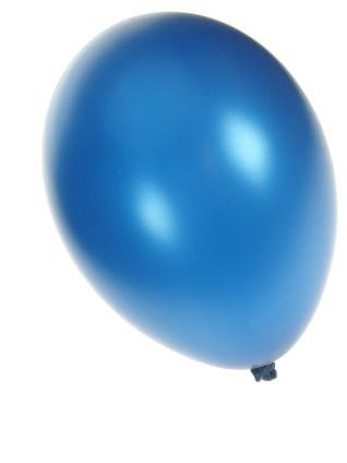 Quality balloon metallic blue