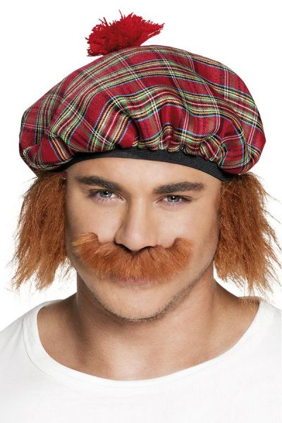 Mustache red-brown Scotsman