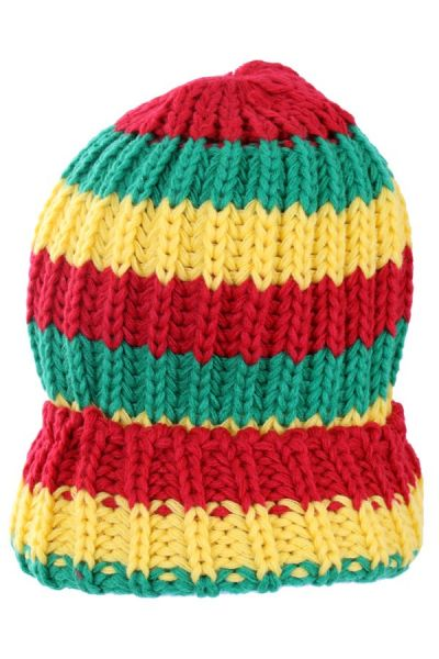 Knitted reggae winter hat