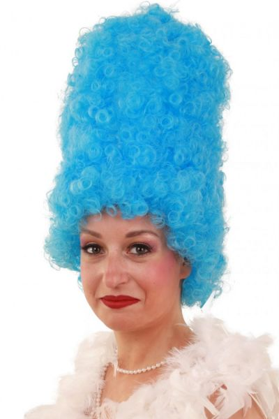 Funny wig Curly high turquoise