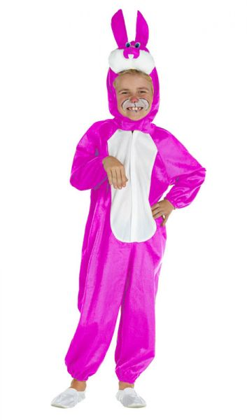 Funny pink rabbit suit
