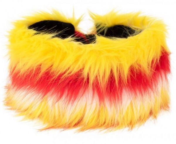 Headband plush red white yellow
