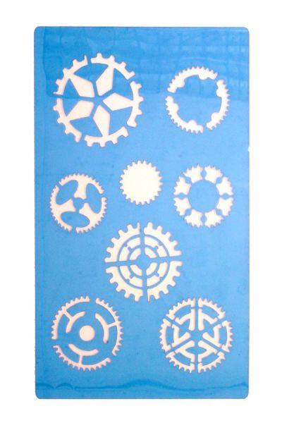 Facepaint Stencils Steampunk gears