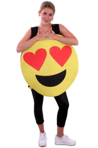 Emoticon Smiley hearts eyes costume Emoji