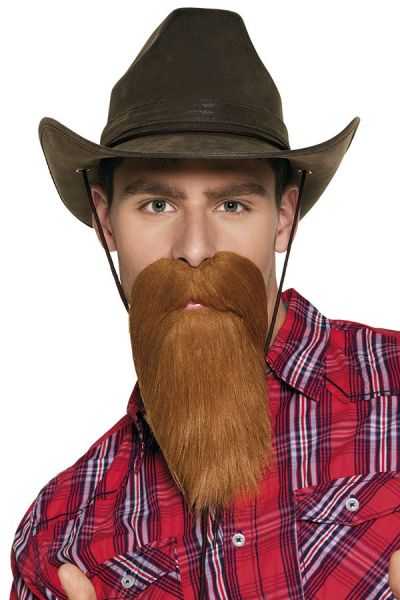 Beard with mustache brown cowboy
