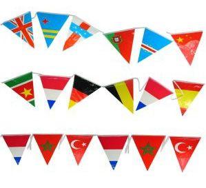 Flag line international 120m party decoration
