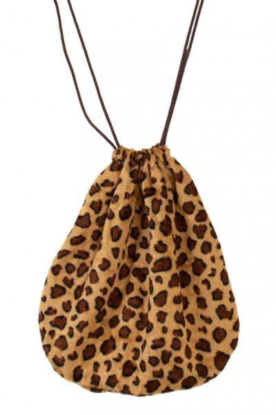 Pouch bag with Panther print