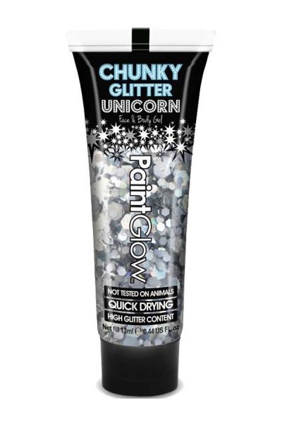 Chunky glitters face body gel Disco Fever