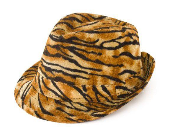 Gangster pimp tiger print hat