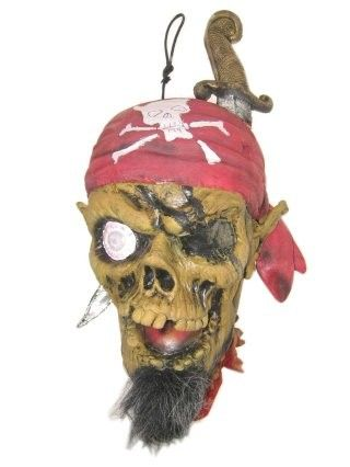 Hanging decoration chopped off pirate head