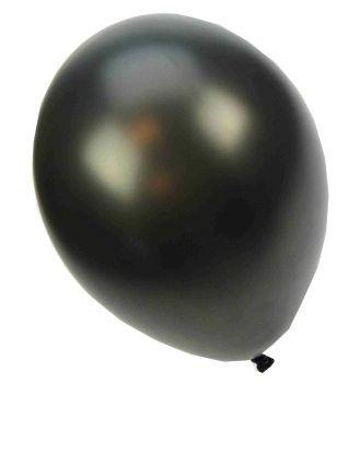 Quality balloon metallic black 14 inch