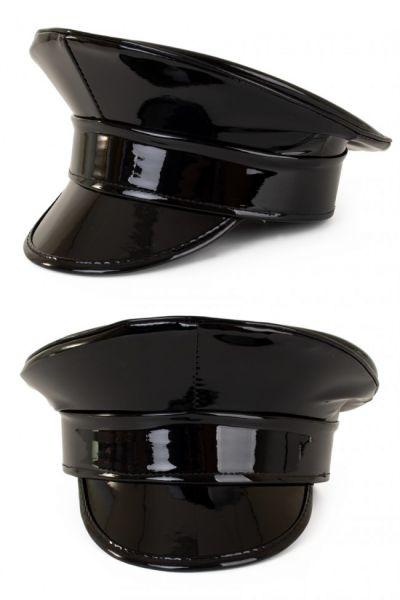 Shiny black lacquer cap