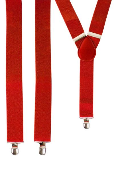 Suspenders color red