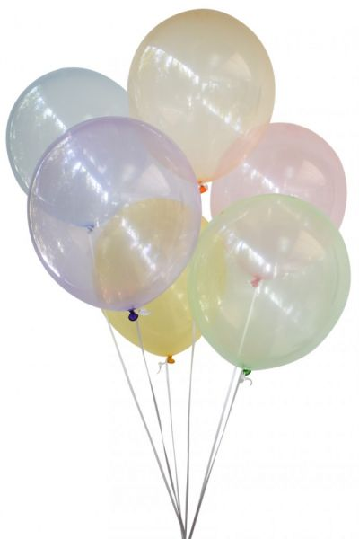 Bubble balloons transparent assorted colors