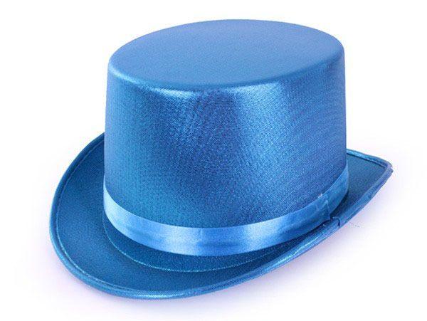 High hat metallic turquoise
