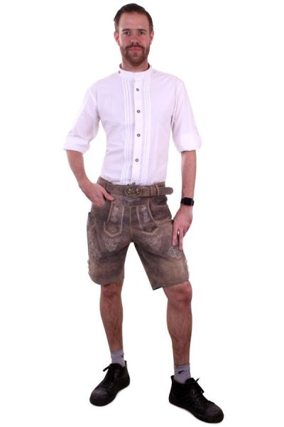 Oktoberfest Tyrolean mens blouse shirt white luxury