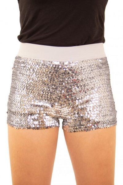 Hotpants with sequins silver