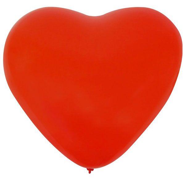 Balloon Heart x 36 Red 32 cm