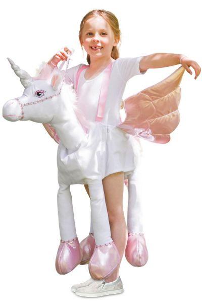 Riding on unicorn children costume