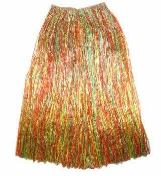 Hawaiian skirt long colored
