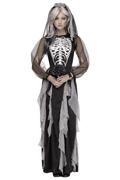 Halloween Skeleton wedding dress