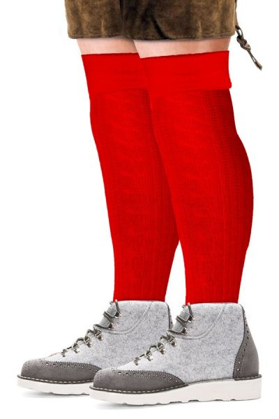 Oktoberfest Tyrolean socks long red