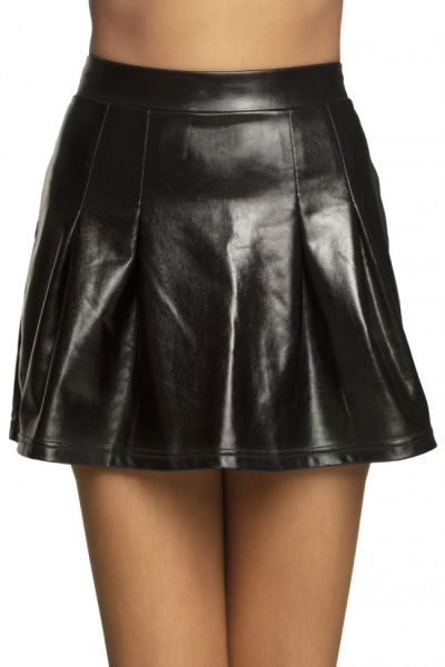 Mini skirt Shiny black