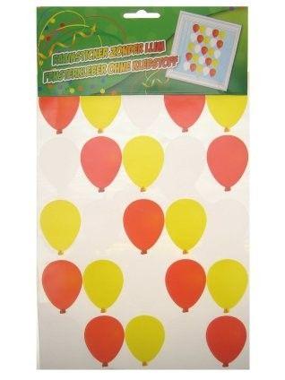 Window stitcher balloons red white yellow