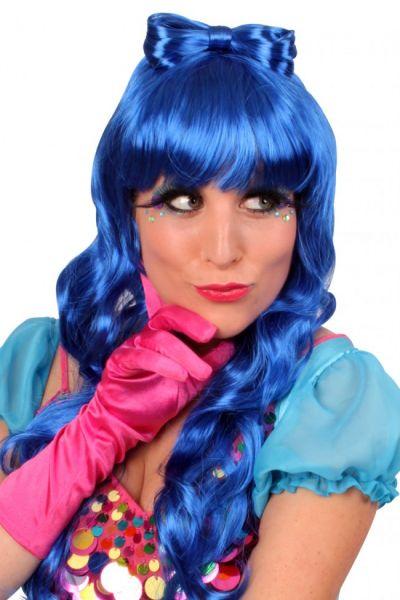 Wig Lauren long blue hair