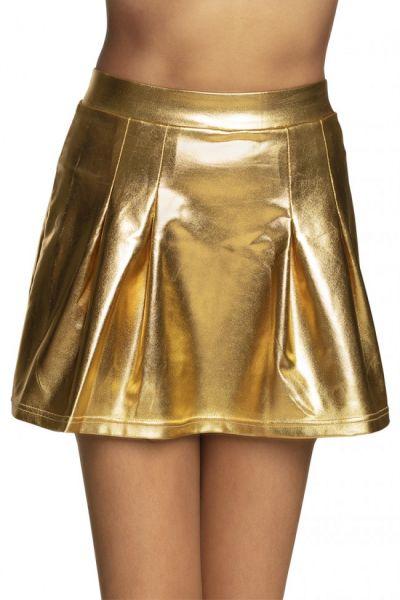 Mini skirt Shiny gold