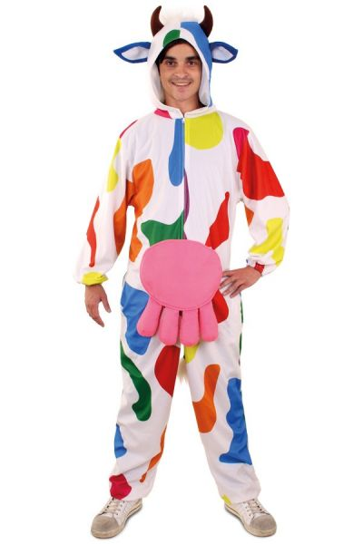 Cheerful funny Hooded cow outfit