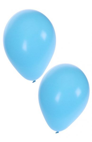 Light blue helium balloons