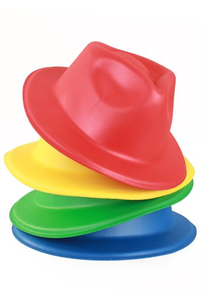12 Dent hat from vinyl red yellow green blue
