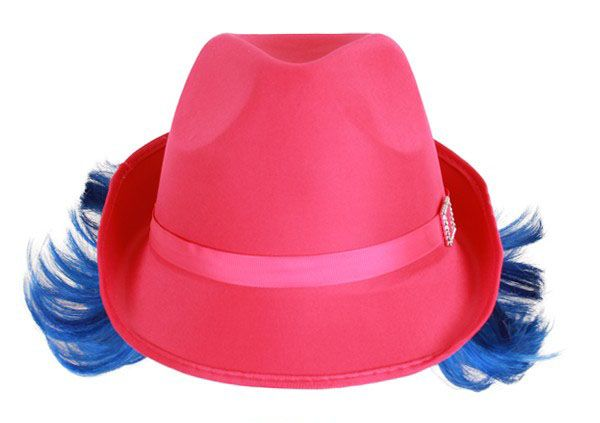 Dent hat pink with blue hair edge