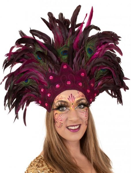Indians feather headdress Sao Paulo