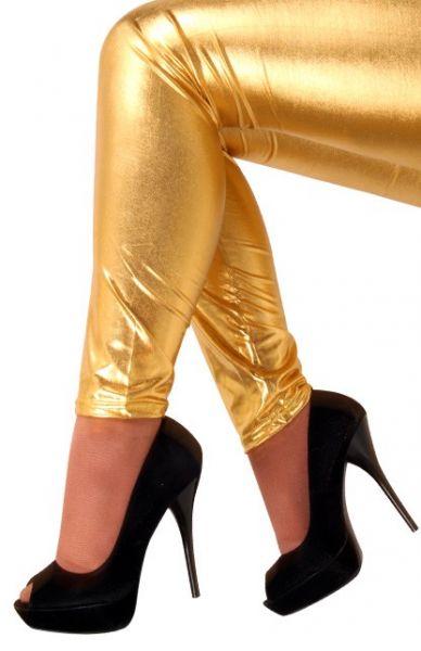 Legging metallic gold