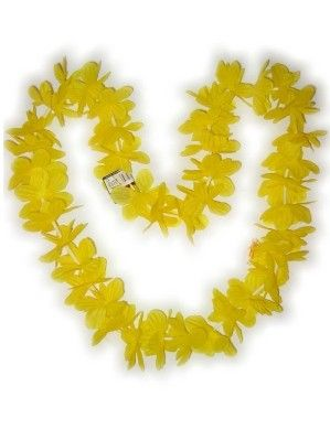 Hawaii necklace yellow garland wreaths 12 pieces