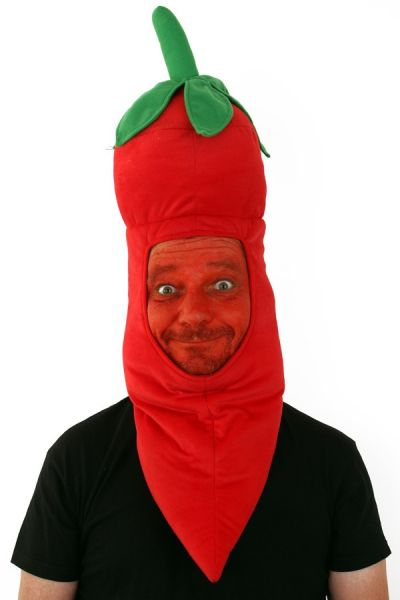 Funny hot red pepper head