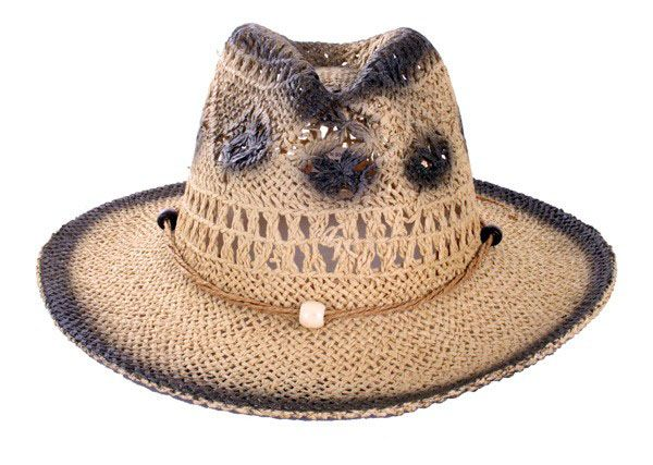 Cowgirl hat straw natural
