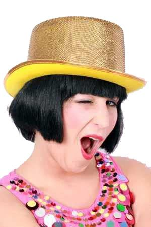 High hat lurex glitter gold