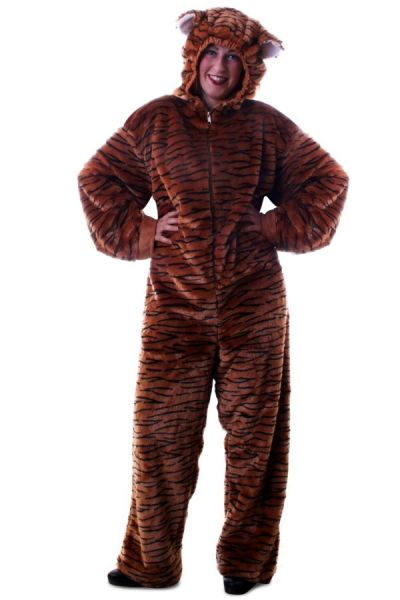 Animal suit Tiger plush with hood